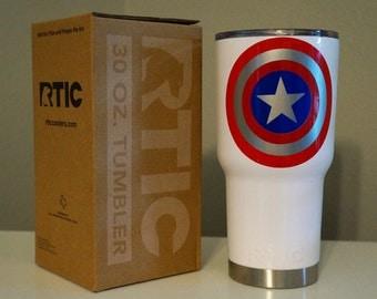 Captain America Inspired RTIC Tumbler
