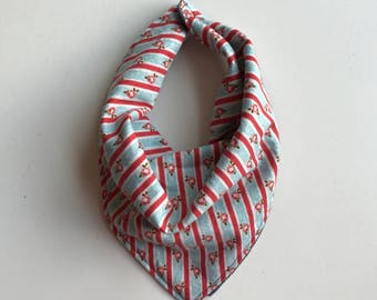 Vintage Floral Stripes: Reversible Neckerchief in Baby and Kid Sizes