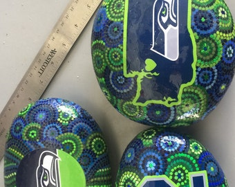 Seahawk Painted Rock