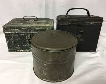 Vintage Tin Boxes, Collection of Three