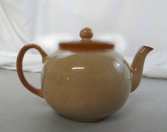 Vintage Pristine Tea Pot From England- Glazed Brown- Excellent Used Condition