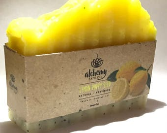 Lemon Poppy Seed - 100% All Natural & Organic Exfoliating Soap