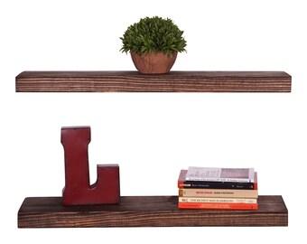 Rustic Pine True Floating Shelves (2 Pack)