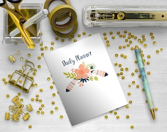 Undated A6 Daily Planner, Printable Inserts, Traveler's Notebook, Calendar, Printable PDF, A6 Inserts, Printable Notebook, TN Inserts