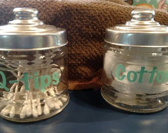 Bathroom containers set of 2