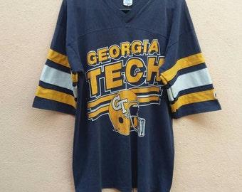 Vintage 80s Georgia Tech Athletic Tshirt / Basketball/Football