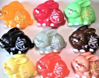 Easter Bunny Soap,Rabbit Soap,Hare Soap,Chinese Zodiac Soap, Kids Soap,Animal Soap,Party Favor