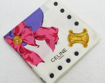 FREE SHIPPING!!! CELINE Paris Hanky Handkerchief