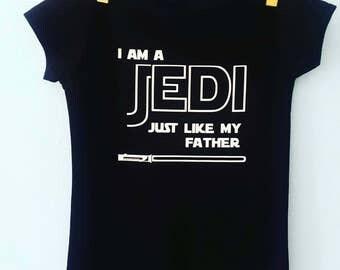 Star Wars JEDI Baby Onesie - I am a JEDI like my Father - Star Wars Onesie - Star wars Baby Bodysuit - Star Wars baby clothes