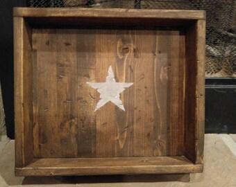 Rustic men's valence tray, men's dump tray, home decor