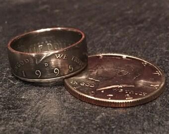 Kennedy Half Dollar Ring Clad