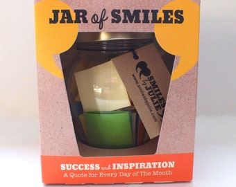 31 'Success & Inspiration' Quotations in a Jar. The prefect gift of happy and thoughtful quotations to show someone how much you care.
