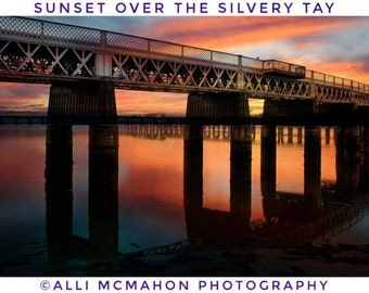 Sunset over the silvery Tay