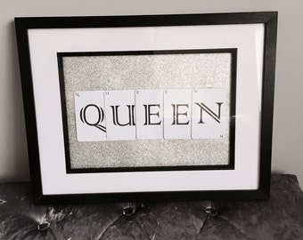 King / Queen Playing Card Prints with Frame