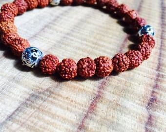 Rudraksha Bracelet, Mala Bracelet, Rudraksha Mala Sumaran, Meditation Beads, Japa Bracelet, Mantra Beads. Made to your size. Best Yoga Beads