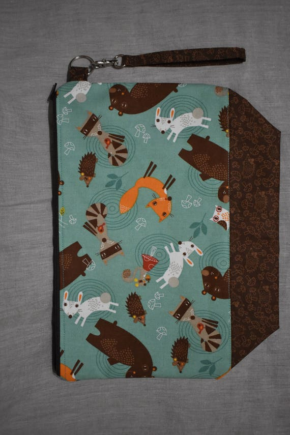 Knitting Project Bags For Sale : Sale woodland critter project bag medium for