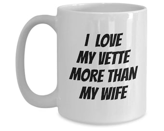 Chevy Vintage Corvette Coffee Mug Is A Great Gift For Him! Be It Corvette Mug or Corvette Art Your Corvette Gift For His Man Cave Is Perfect