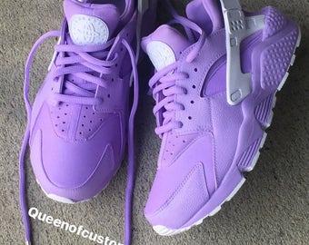Lilac Nike Huarache (custom)