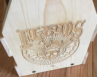 3 Floyds Wooden Beer Carrier, Beer Carrier, Beer Holder, Dad'd Day Gift, Father's Day Gift, Grandpa Gift, Grandfather Gift, Bottle Opener