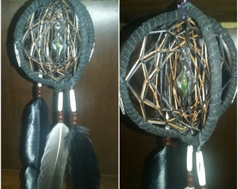 3D dreamcatcher with glass pendant