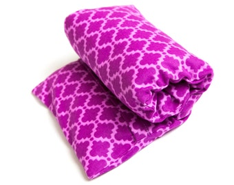 Large FLAX HEATING PAD, Microwavable, hot cold pack, washable cover, Flax seed Bag, Unscented or Lavender