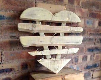Handcrafted Wood Heart