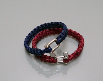 Bracelet in Paracord, Manila from 3 mm