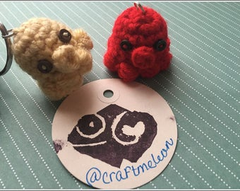 Little friends crochet keychains