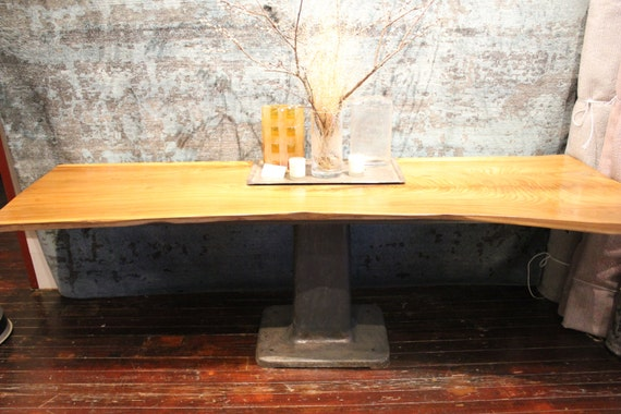 live edge single slab dining or conference table