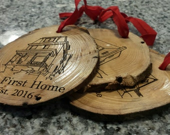 Your House Engraved Housewarming Wood Ornament