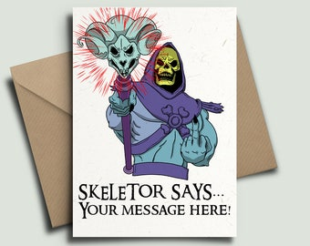 Skeletor He-Man Masters of the Universe 80s Kids TV Personalised Birthday Card