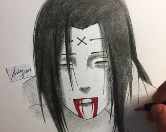 Neji Hyuga A4 ORIGINAL illustration naruto