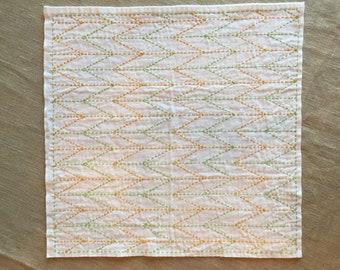 sashiko kitchen cloth
