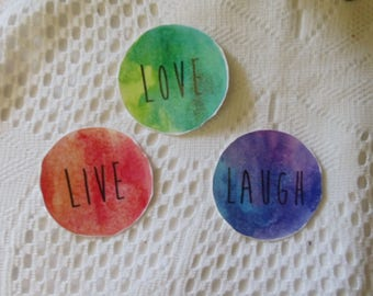 Live. Love. Laugh. sticker packs