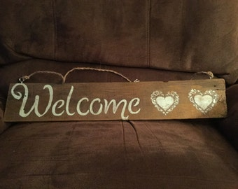 Hand painted wood plaque