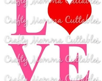 LOVE file / Love Valentine's day Svg / Valentine's Day Cut File / Valentine's Silhouette File // Love Cutting File // Love SVG file