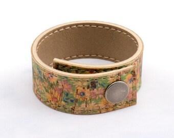 Cork Cuff Bracelet | Women's Vegan Cuff | Women's Bracelet Cuff | Vegan Bracelet | 17 Different Colors |