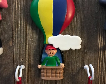 Personalized hot air balloon Christmas ornament