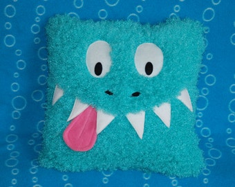 Soft Snuggly Teal Monster Pillow