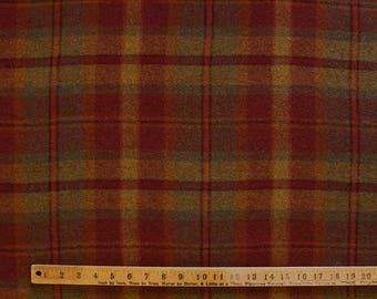 Huntsman Plaid, Felted Wool Fabric for Rug Hooking, Wool Applique and Crafts