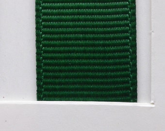 """3/8"""" / 10mm Solid Grosgrain Ribbon FOREST GREEN #587 X 2 METERS"""