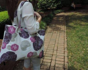 The Myrtle Beach Tote [Handmade floral pattern beach bag]