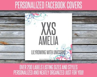 Facebook Album Covers - Size and Style - Personalized! 200+ Graphics - LLRFBL21