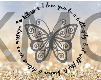 butterfly, whisper, svg, cricut, silhouette, cutting file
