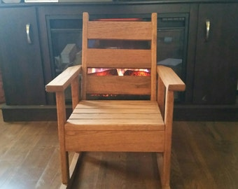 Oak Rocking Chair Etsy