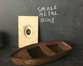 Vintage Metal Toy Boat