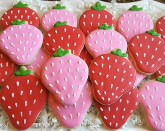 Strawberry Cookies Party Favors