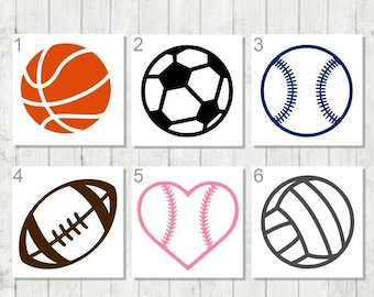 Sports Ball Decal, Soccer Ball Decal, Baseball Decal, Sports Team Gift, Gift for Coach, Sports Tumbler Decal, Volleyball Decal, Sports Decal