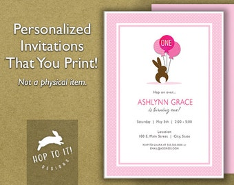 Young Child Birthday Party Invitation - Digital File - You Print