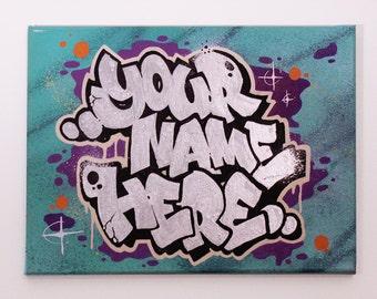 EXAMPLE - Custom Graffiti Canvas.